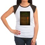 GET ROOTED EAT LOCAL Women's Cap Sleeve T-Shirt