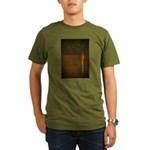 GET ROOTED EAT LOCAL Organic Men's T-Shirt (dark)