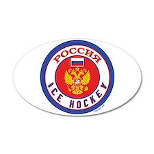 RU Russia/Rossiya Hockey 22x14 Oval Wall Peel
