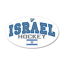 IL Israel Ice Hockey 22x14 Oval Wall Peel