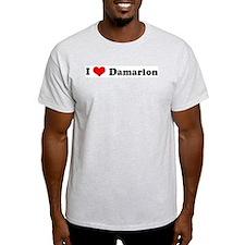 I Love Damarion Ash Grey T-Shirt