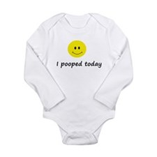 I pooped today Long Sleeve Infant Bodysuit