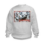 Buck deer in snow Kids Sweatshirt