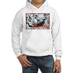 Buck deer in snow Hooded Sweatshirt