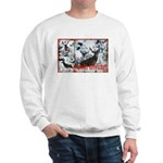 Buck deer in snow Sweatshirt