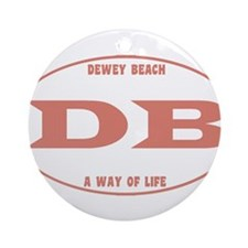 Dewey Beach Ornament (Round)