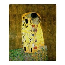 The Kiss Gustav Klimt Throw Blanket