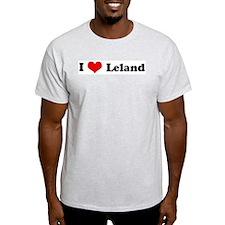 I Love Leland Ash Grey T-Shirt