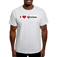 I Love Quinn Ash Grey T-Shirt