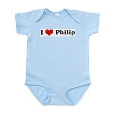 I Love Philip Infant Creeper