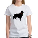 Christmas or Holiday Collie Silhouette Women's T-S