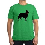 Christmas or Holiday Collie Silhouette Men's Fitte