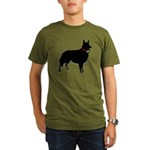 Christmas or Holiday Collie Silhouette Organic Men