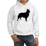 Christmas or Holiday Collie Silhouette Hooded Swea