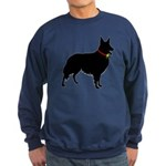 Christmas or Holiday Collie Silhouette Sweatshirt