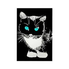 Blue Eyed Cat Rectangle Magnet (100 pack)
