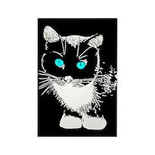 Blue Eyed Cat Rectangle Magnet (10 pack)