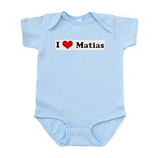 I Love Matias Infant Creeper