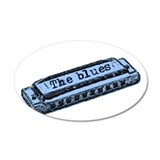 The Blues Harp 22x14 Oval Wall Peel
