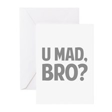 U Mad, Bro? Greeting Cards (Pk of 20)