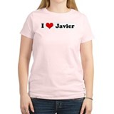 I Love Javier Women's Pink T-Shirt