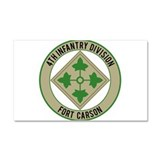 4th Infantry Ft Carson Car Magnet 20 x 12