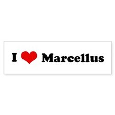 I Love Marcellus Bumper Bumper Sticker
