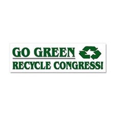 Go Green - Car Magnet 10 x 3