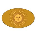 Sol de Mayo Sticker (Oval 10 pk)