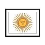 Sol de Mayo Framed Panel Print