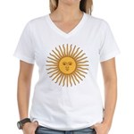 Sol de Mayo Women's V-Neck T-Shirt