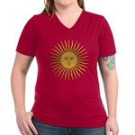 Sol de Mayo Women's V-Neck Dark T-Shirt