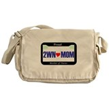 Twin License Plate Messenger Bag