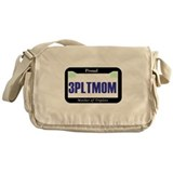 Triplet License Plate Messenger Bag