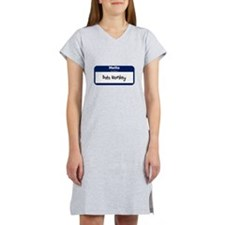 Hello my name is: Data Monkey Women's Nightshirt