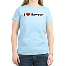 I Love Sawyer Women's Pink T-Shirt