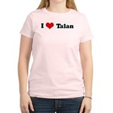 I Love Talan Women's Pink T-Shirt