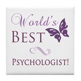 World's Best Psychologist Tile Coaster