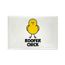 Roofer Chick Rectangle Magnet