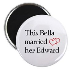 "This Bella married her Edward 2.25"" Magnet (100 pa"
