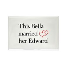 This Bella married her Edward Rectangle Magnet