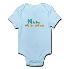 """""""Baby's Name and Initial Here"""" Onesie"""
