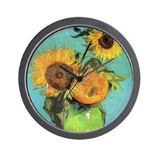 Van Gogh - Three Sunflowers Wall Clock