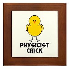Physicist Chick Framed Tile