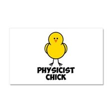 Physicist Chick Car Magnet 20 x 12