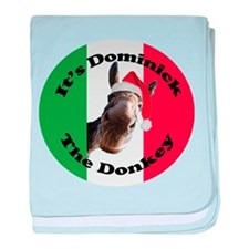 It's Dominick! (round) baby blanket