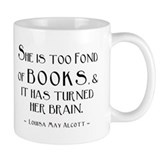 Louisa May Alcott Too Many Books Small Mug
