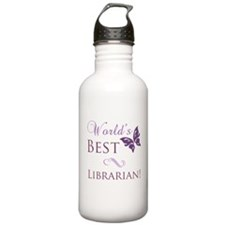 World's Best Librarian Water Bottle