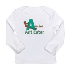 A is for Anteater Long Sleeve Infant T-Shirt