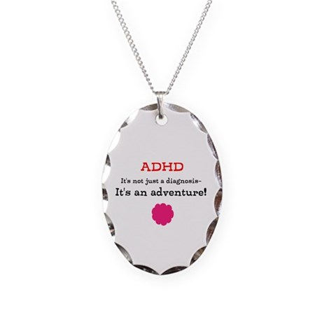 ADHD Adventure Necklace Oval Charm